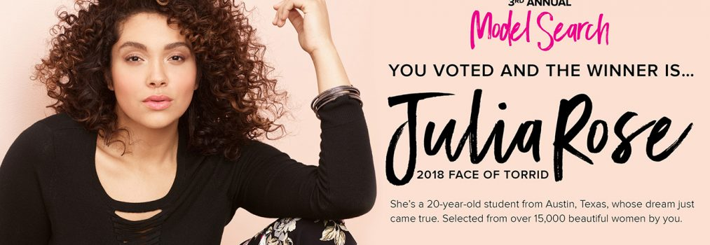 2018 Face of Torrid Winner Revealed