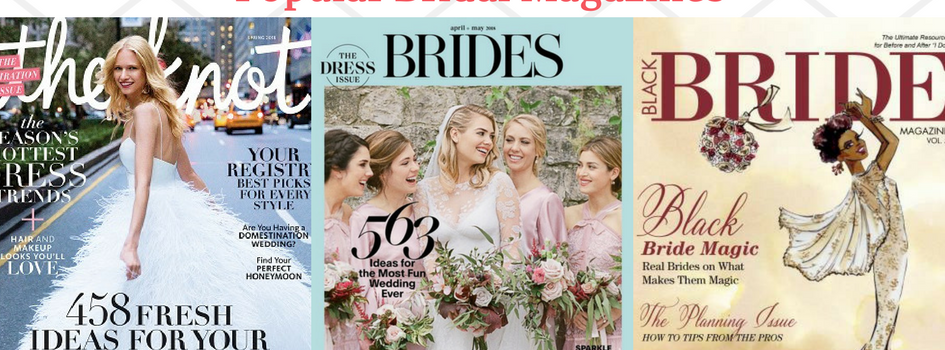Newsstands & Wedding Bands-Popular Bridal Magazines