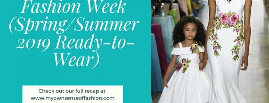 New York Fashion Week (Spring/Summer 2019 Ready-to-Wear)