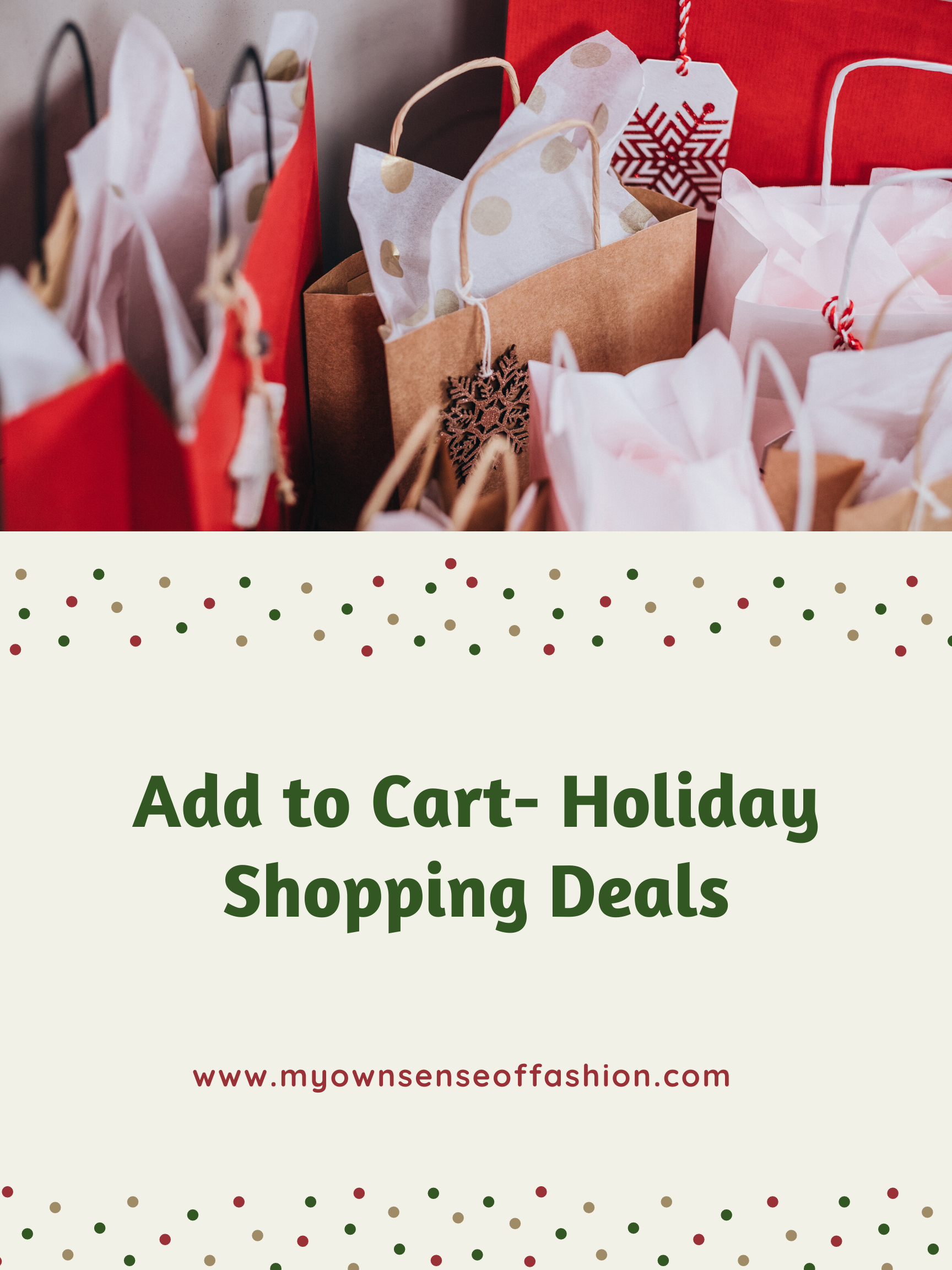 Add to Cart- Holiday Shopping Deals